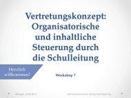 Vertretungskonzept: Organisatorische und inhaltliche Steuerung ...