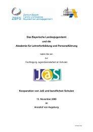 Kooperation von JaS und beruflichen Schulen - Bayern