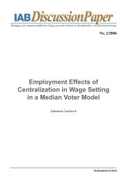 Employment Effects of Centralization in Wage Setting in a ... - IAB