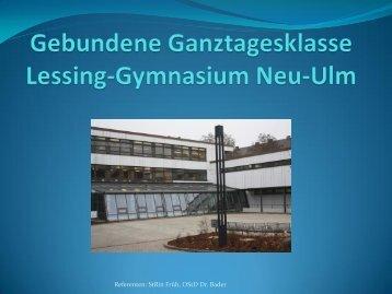 Ganztagsklasse am Lessing-Gymnasium Neu-Ulm