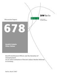Hendrik Schmitz Viktor Steiner Benefit-Entitlement Effects - DIW Berlin