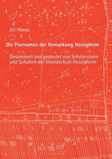Die Flurnamen der Gemarkung Hessigheim - Mediaculture online