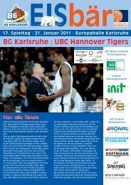 BG Karlsruhe : UBC Hannover Tigers