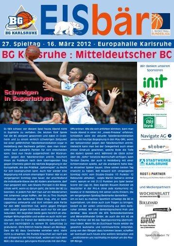BG Karlsruhe : Mitteldeutscher BC