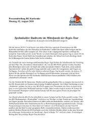 Pressemitteilung zur Regio-Tour - BG Karlsruhe