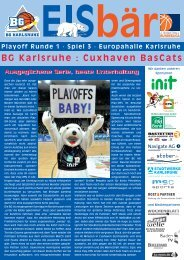 Play-Off-R1-S3 - BG Karlsruhe : Cuxhaven BasCats