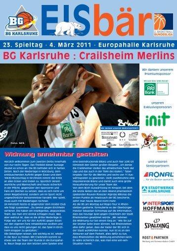 BG Karlsruhe : Crailsheim Merlins