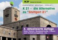 """K 21 – die Alternative zu """"Stuttgart 21"""" - Kopfbahnhof 21"""
