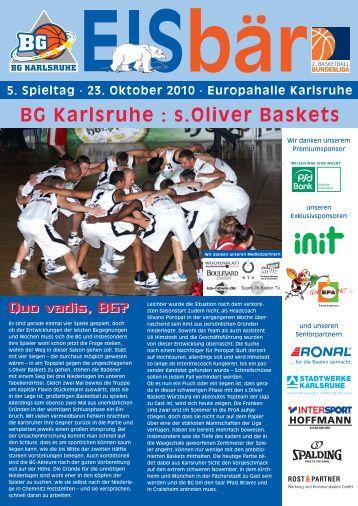 BG Karlsruhe : s.Oliver Baskets