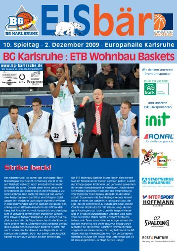 BG Karlsruhe : ETB Wohnbau Baskets Essen