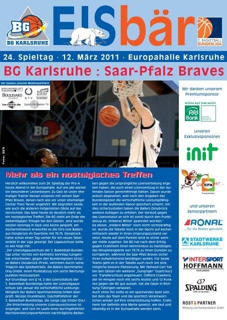BG Karlsruhe : Saar-Pfalz Braves