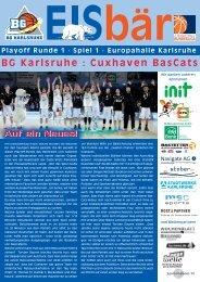 BG Karlsruhe : Cuxhaven BasCats Auf ein Neues!