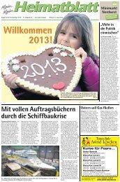 Willkommen 2013! Willkommen 2013! - E-Paper - Emder Zeitung