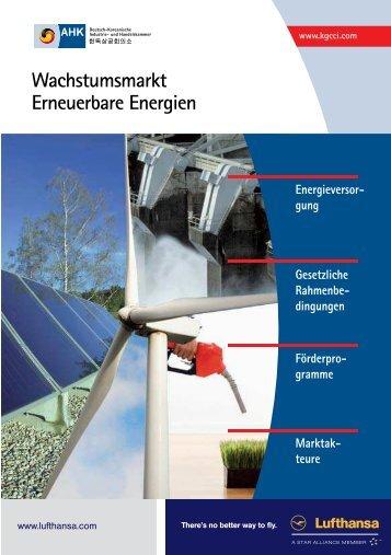Wachstumsmarkt Erneuerbare Energien - AHK Korea