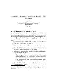 Einblick in den lexikografischen Prozess beim ordnet.dk
