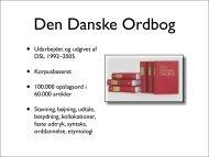 ordnet.dk - Det Danske Sprog- og Litteraturselskab
