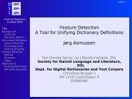 slide - Det Danske Sprog- og Litteraturselskab