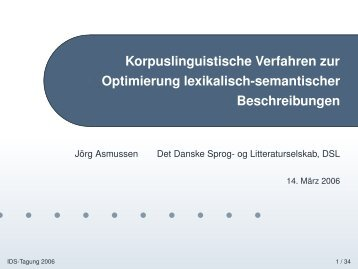 Semantische Beschreibung - Det Danske Sprog- og Litteraturselskab