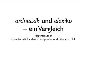 ordnet.dk und elexiko - Det Danske Sprog- og Litteraturselskab
