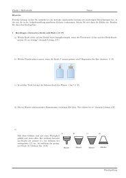Physik / Hydrostatik Name: Formale Lösung: Leiten Sie zunächst je ...