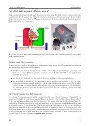 Der Gleichstrommotor (Elektromotor)