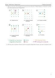Physik / Elektrizität / Magnetismus Übungen Lorentzkraft 1 ...