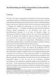 Die Rechtsstellung der Kinder in Deutschland, ein internationaler ...