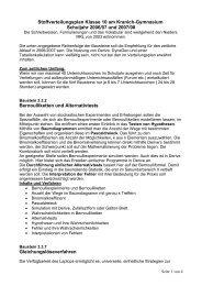 Stoffverteilungsplan Klasse 10 am Kranich-Gymnasium Schuljahr ...