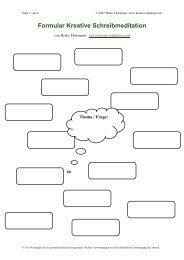 Formular Kreative Schreibmeditation - Kreativesdenken.com