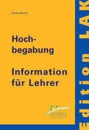 Hochbegabung - Information für Lehrer