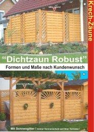 Dichtzaun Robust Prospekt.cdr - Krech Zäune GmbH