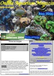 Online Aquarium Online Aquarium-Magazin ... - Die Wirbellosen