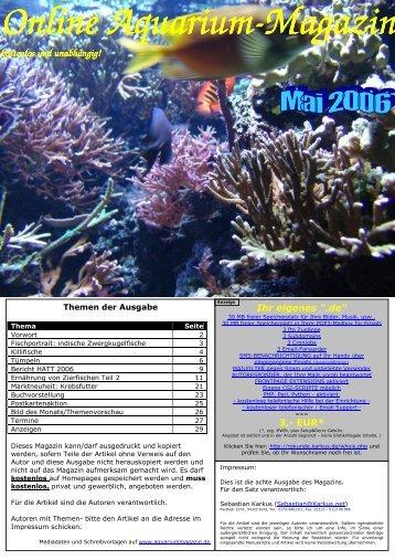Magazin Magazin - Online Aquariummagazin