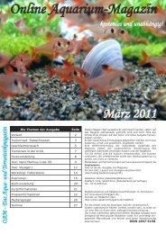 OAM Ausgabe März 2011 - Online Aquariummagazin