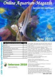 OAM Ausgabe Juni 2010 - Online Aquariummagazin