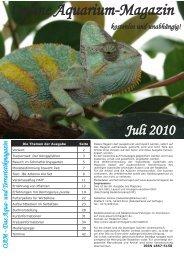 OAM Ausgabe Juli 2010 - Die Wirbellosen