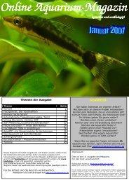 Online Aquarium Online Aquarium-Magazin - Die Wirbellosen
