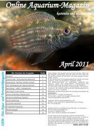 OAM Ausgabe April 2011 - Online Aquariummagazin