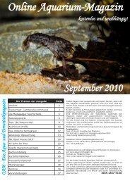 OAM Ausgabe September 2010 - Die Wirbellosen