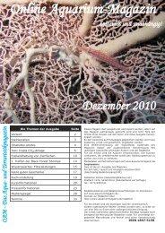 OAM Ausgabe Dezember 2010 - Online Aquariummagazin