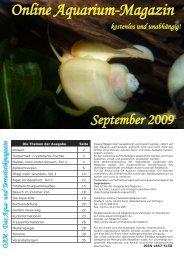 OAM Ausgabe September 2009 - Online Aquariummagazin