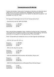 Transpondersuche KR 960 hbb - Kreiling Technologien