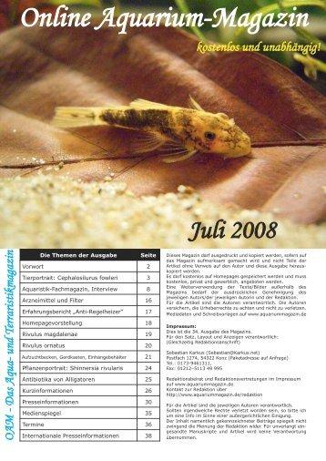 Download - Online Aquariummagazin
