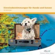 Einreisebestimmungen für Hunde und Katzen - Kreis Euskirchen