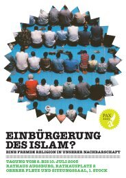 EINBÜRGERUNG DES ISLAM? - Kulturhaus Kresslesmühle
