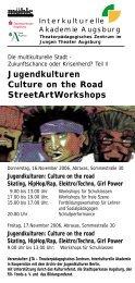 Jugendkulturen Culture on the Road StreetArtWorkshops