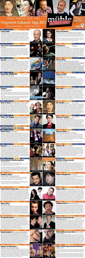 Programm Kabarett Tage 2013