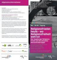 Religions frieden heute – wo R eligionsfreiheit weh tut