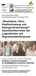 Geschlechterrollen bei Jugendlichen mit Migrationshintergrund