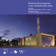 Moderne Moscheebauten in der interkulturellen Stadt - Kulturhaus ...